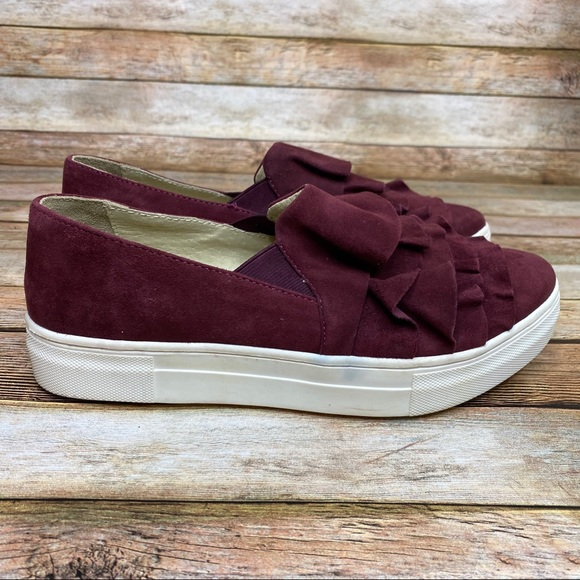 Burgundy Seychelles Quake Sneaker Leather Suede